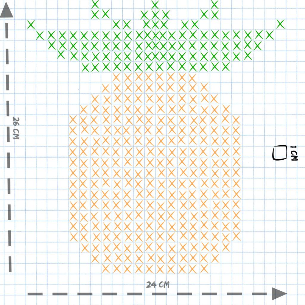 Ananas au point de croix - the funky fresh project