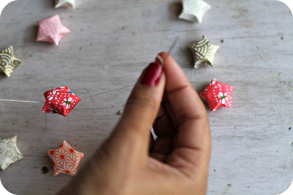 DIY étoiles origami the funky fresh project