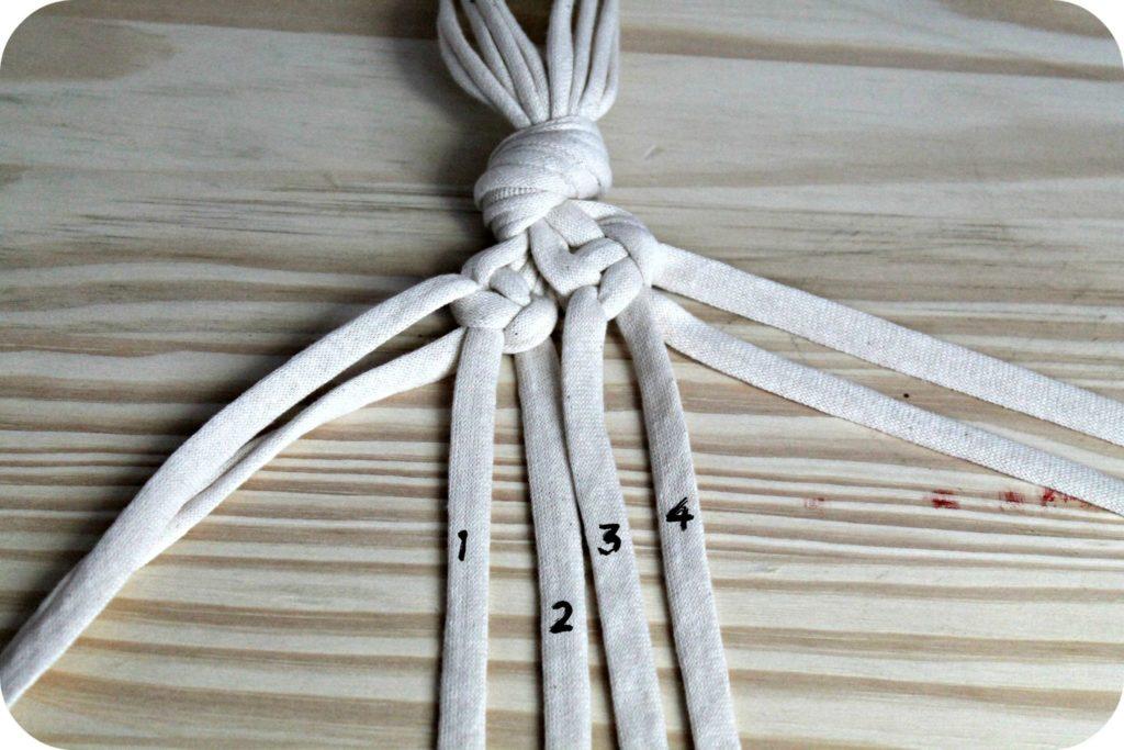 DIY suspension macramé trapilho