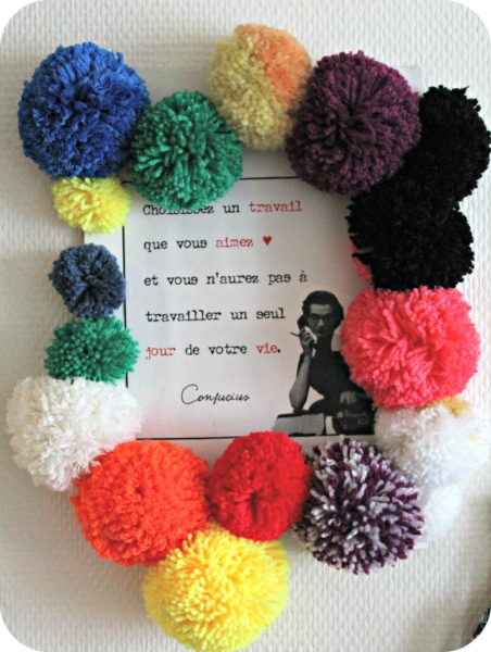 DIY - Yn cadre pompons - The Funky Fresh Project