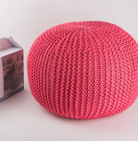 Kit DIY Je tricote mon pouf corail Phildar - The Funky Fresh Project