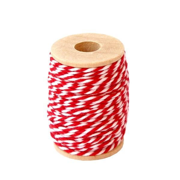 Fil de coton rouge blanc - Rico Design - The Funky Fresh Project