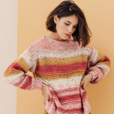 Tricot Tweed Phildar Blush The Funky Fresh Project