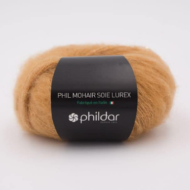 Fil Kid Mohair à Tricoter Phildar Miel The Funky Fresh Project